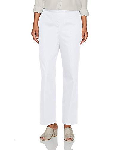 - Alfred Dunner Women's Cozumel Eggshell White Pants 18
