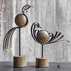 (Uttermost Anvi Bird Sculptures, S/2 17102)