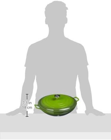 Basics Sauteuse en fonte /émaill/ée avec couvercle 3,1/L Blanc