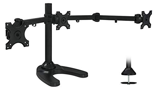 Mount-It! MI-789 Triple Monitor Stand Freestanding LCD Compu