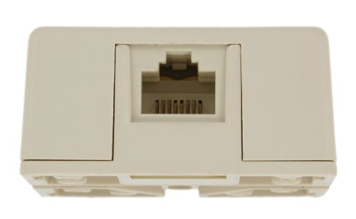 Leviton 40278-SBT Surface Mount Jack With Shorting Bar, 8P8C, Light Almond