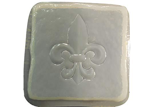 Stone Sculpture Supplies - Stone Look Fleur De Lis Stepping Stone Concrete or Plaster Mold 1329