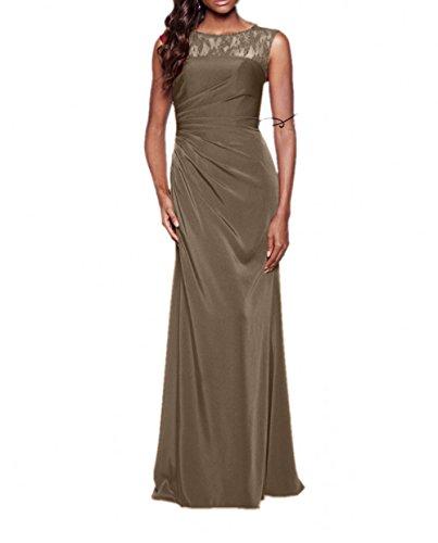 Lang Elegant A Chiffon Festlichkleider Linie Ballkleider Blau Abendkleider Charmant Braun Damen Abschlussballkleider vqwZ4BB