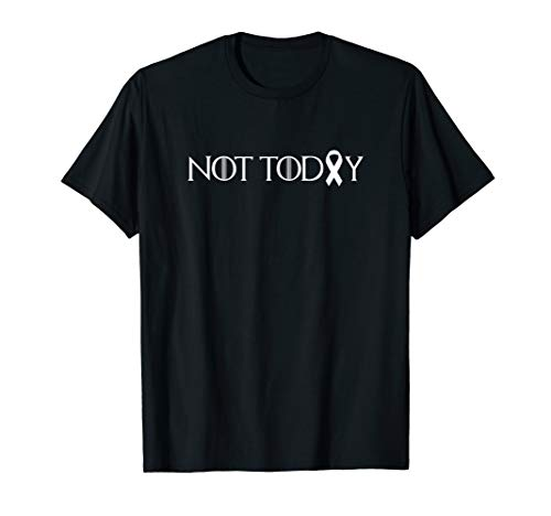 Not Today Cancer Fighter & Survivor White Ribbon ()