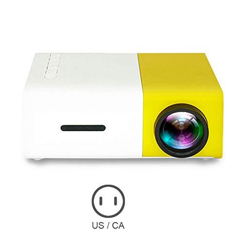 Friendgo Portable Theater Home Projector,Projector Mini Projector Portable Theater Home Office HD 1080P Yellow by Friendgo