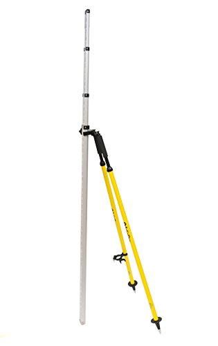AdirPro Barcode Rod Bipod - Leveling Rod Bipod with Thumb Release Locking System (Yellow)