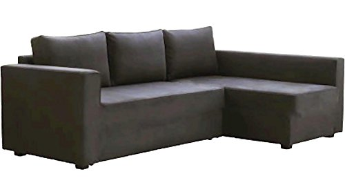 HomeTown Market The Dark Gray Manstad Cover Replacement is Custom Made for IKEA Manstad Sofa Bed, Or Sectional, Or Corner Slipcover. (Sofa Left Arm Longer)