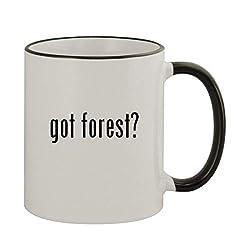 got forest? - 11oz Colored Rim & Handle Sturdy Ceramic Coffee Cup Mug, Black