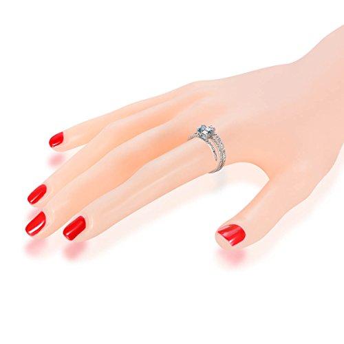Hutang Jewelry     or blanc 750/1000 (18 cts) Rond Octagon   Blanc Bleu Aquamarin Diamant blanc