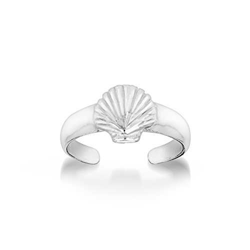 (CY Supplies Shell Toe Ring - 925 Sterling Silver - Adjustable)