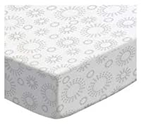 SheetWorld Fitted Oval Crib Sheet (Stokke Sleepi) - Grey Dot Circles - Made In USA