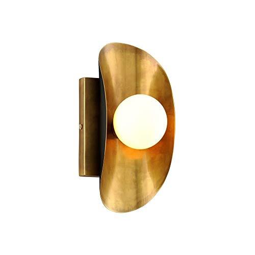 Corbett 271-11 Hopper Wall Sconce, 1-Light 20 Watts, Vintage Brass Bronze Accents
