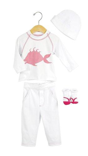 Elegant Baby Tropical Fashion Set- 6 mos-Fish