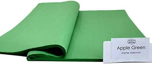 ColorsOfRainbow | Apple Green | 96 Sheets | 15 Inch x 20 Inch | Gift Wrapping Tissue Paper for Gift Bags, Paper Flower, Party Decoration