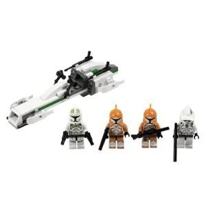 4KIDS Toy / Game Colorful Lego Star Wars Clone Trooper Battle Pack 7913 with New Clone Commander Minifigures