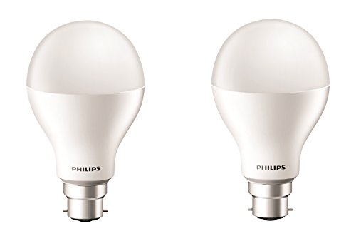 Philips 17-Watt LED Bulb (Pack of 2, Cool Day Light)