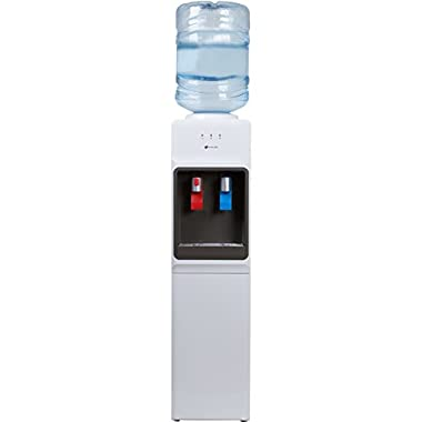 Avalon Top Loading Water Cooler Dispenser - Hot & Cold Water, Child Safety Lock, Innovative Slim Design, Holds 3 or 5 Gallon Bottles - UL/Energy Star Approved