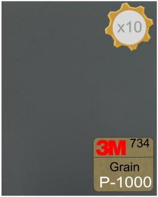 Humide et Sec Sablage Feuilles Paquet de 10 Fin 800 Grain 230 x 280mm Européen À