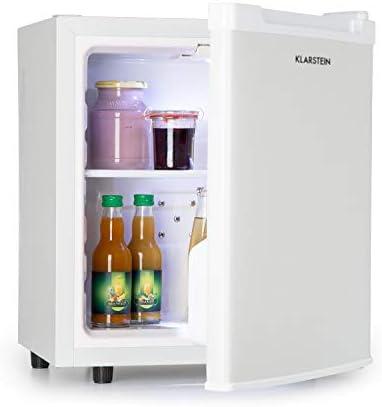 Klarstein Silent Cool Minibar Minikühlschrank Mini Snacks- und Getränkekühlschrank (2 Etagen, 4,5-15°C stufenlos, Temperaturregler, 30 Liter, 24dB leiser Betrieb, platzsparend) weiß