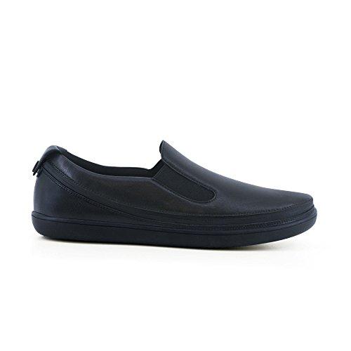 ACBC Scarpa Mocassino Sneakers Drive Suola e Scarpa Nera con Zip