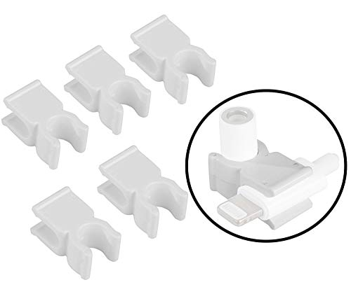 Movo Mounting Clips Compatible with The iPhone Dongle - Secures Dongle for Mic Mounting (5 Pack)