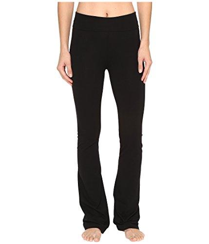 Hard Tail Women's Rolldown Bootleg Flare Pants Black Medium 32 32