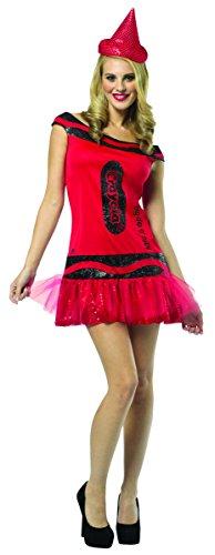 Crayola Crayons Costume (Rasta Imposta Crayola Glitz And Glitter Tank Dress, Big Dip O' Ruby, Adult)