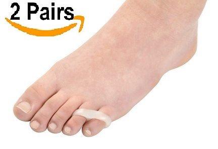DUORUI Gel Little Toe Buddy,toe corrector&toe straightener,Easy Wear in Shoes for Men/women (2 Pairs) (Pinky Ring Wear)