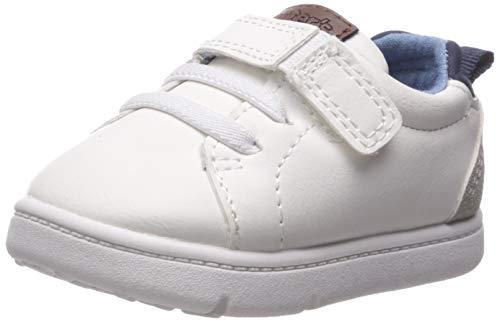 Carter's Every Step Girls' Park Sneaker, White, 4 M US Infant
