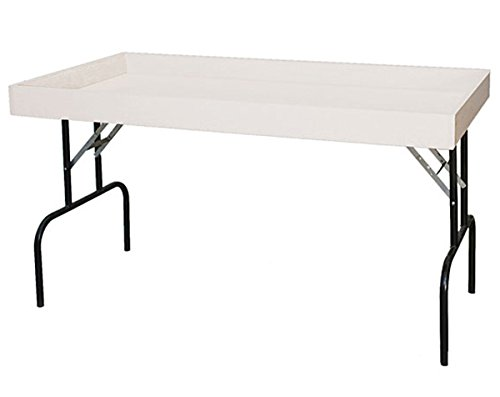 Retail Display Dump Folding Table 30''W x 60''L Ship Knockdown White Lot of 2 NEW by Unknown
