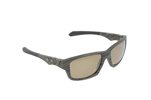 Oakley Men's Jupiter Polarized Square Sunglasses,Woodgrain Frame/Tungsten Iridium Lens, - Oakley Lens Iridium Green