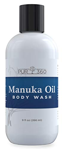 Pur360 Manuka Oil Body and Foot Wash - 33x More Powerful Than Tea Tree Oil - Antifungal Soap, Antibacterial, Acne Wash, Use Alone or in Conjunction with Other Products for Maximum Results