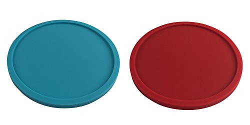 4 Red + 4 Turquoise Coasters