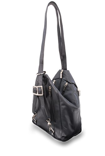 Visconti Back Pack Handbag -18357 DANII (A) - Leather Black