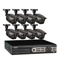 Q-See QT5616-8E2-2 16-Channel Real-Time 960H DVR and 8 960H/700 TVL Bullet Cameras with 2TB Hard Disk Drive - Black by Q-See