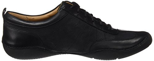 Autumn Noir Clarks Basses Garden Femme Sneakers black Leather Hqnpwfd7