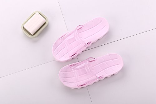 Auspicious beginning Adults Comfy Anti-skid Shower Slippers Beach Pool Sandals Pink mukut