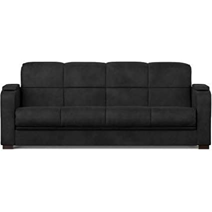 Amazon.com: Futon Bed Couch- with Comfortable Support-Fabric ...