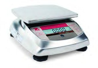 Ohaus V31X6N Valor Xtreme Compact Precision Scale, Stainless Steel, NTEP and OIML Approved, 6,000g Capacity, 1g - Compact 5000 Valor