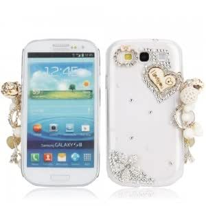Wood Heart + Hang Decorations Crystal Case for Samsung Galaxy SIII S3 i9300