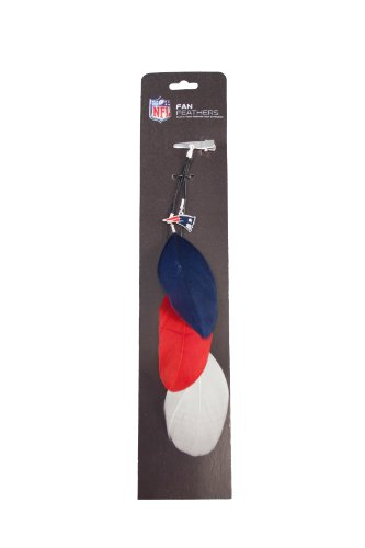 Littlearth NFL New England Patriots Feather Hair Clip by Littlearth