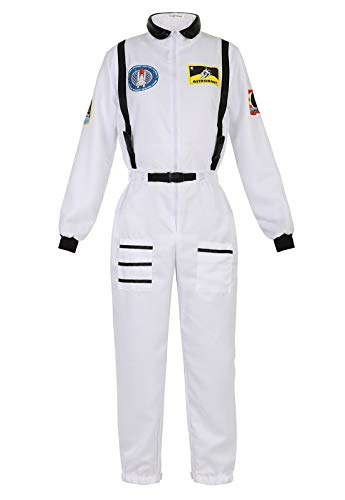 Female Astronaut Costume (Astronaut Costume for Women Dress Up Clothes Space Fancy Jumpsuit Cosplay Onesie Costume Role Play Set Outfits)