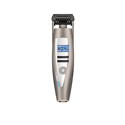 Conair Man i-Stubble Ultimate Flexhead Trimmer; Pivoting Flex Head; 15 Digital Settings ranging from 0.4mm to 5.0mm; Grey - 315i cMp3eL - Conair Man i-Stubble Ultimate Flexhead Trimmer; Pivoting Flex Head; 15 Digital Settings ranging from 0.4mm to 5.0mm; Grey