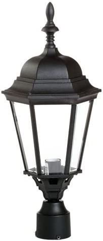 Black Westar Lighting Outdoor Lantern Light Post