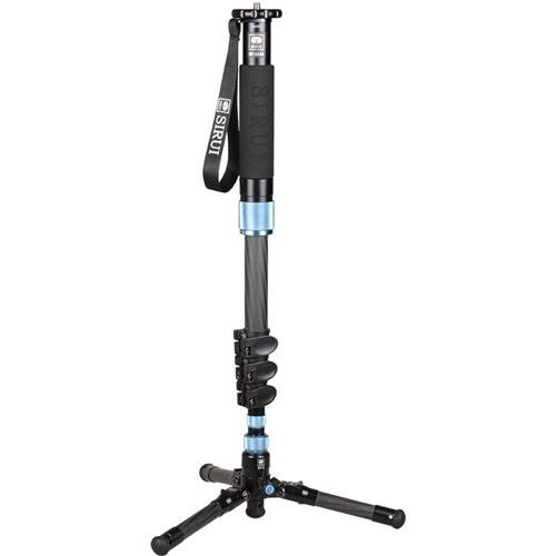 Sirui EP-224S 4 Section Multi-Function Flip Leg Lock Carbon Fiber Photo/Video Monopod, 17 Lbs Capacity, 63'' Maximum Height by Sirui