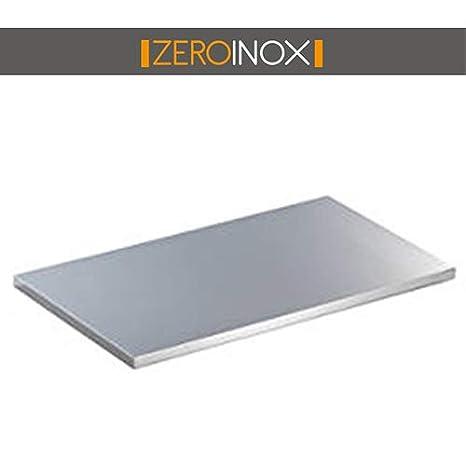 Piano da Lavoro Tutte le misure - Profondità 60cm - TOP per Tavolo in Acciaio Professionale Cucina (40x60x4h) ZeroInox