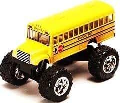 Monster School Bus: Die Cast Yellow School Bus Large 5
