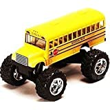 """Monster School Bus: Die Cast Yellow School Bus Large 5"""" Long with Monster Wheels! by International by International"""
