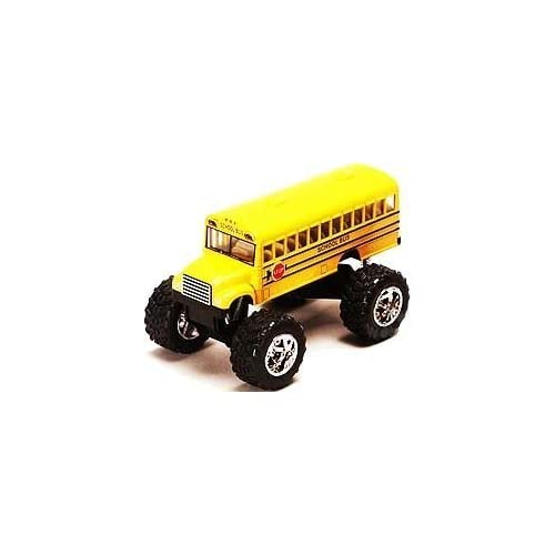 "Monster School Bus: Die Cast Yellow School Bus Large 5"" Long with Monster Wheels! by International by International"
