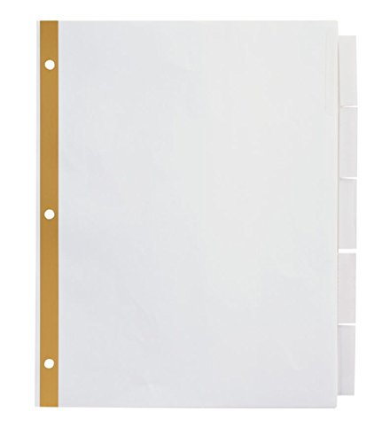 Office Depot Insertable Dividers With Big Tabs, White, Clear Tabs, 5-Tab, OD14790 (Dividers Direct Laser Printer)